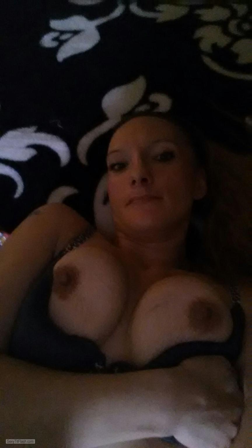 Tit Flash: My Medium Tits (Selfie) - Topless Whiteryce from United States
